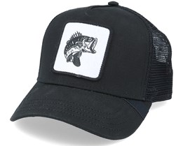 Black Bass Fish Patch Black Trucker - Hunter