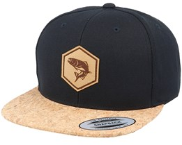 Trout Fish Patch Black/Cork Snapback - Hunter