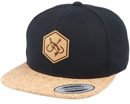 Fishing Hooks Patch Black/Cork Snapback - Hunter