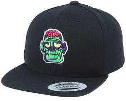 Kids Sad Zombie Brains Black Snapback - Kiddo Cap