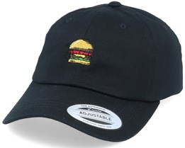 Tasty Burger Organic Dad Cap Black Adjustable - Iconic