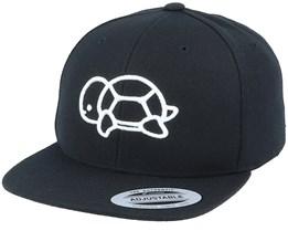 Kids 3D Turtle Black Snapback - Kiddo Cap