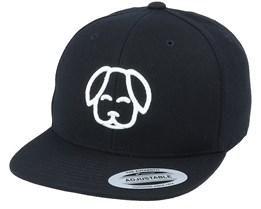 Kids 3D Dog Black Snapback - Kiddo Cap