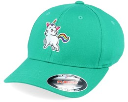 Kids Unicorn Kitty Green Flexfit - Unicorns