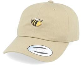 Tiny Bee Khaki Dad Cap - Iconic