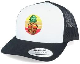 Pineapple Sunset Retro Black/White Trucker - Iconic