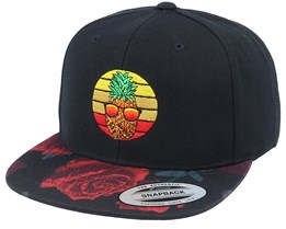 Pineapple Sunset Rose Red Snapback - Iconic