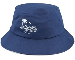 Palm Beach Sunset Navy Bucket - Iconic