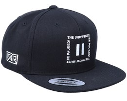 Show Must Be Paused Black Snapback - Fair