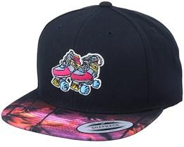 Retro Roller Skates Black/Sunset Peak Snapback - Iconic