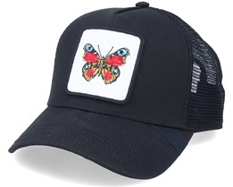 Peacock Butterfly Patch Black Trucker - Iconic