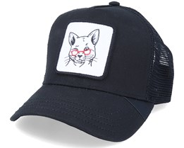 Really Grandma Cat Patch Black Trucker - Iconic