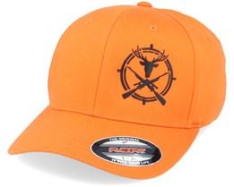 Rifle Crosshair Buck Orange Flexfit - Hunter