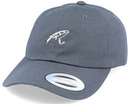 Fishing Angler Rod Dark Grey Dad Cap - Hunter