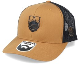Face Mask Quarantine Beard Caramel/Black Trucker - Bearded Man