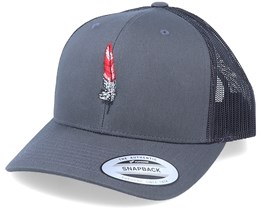 Feather Retro Charcoal Trucker - Iconic