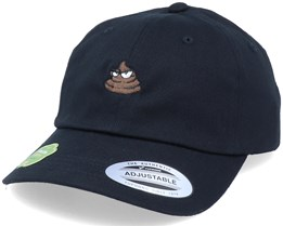 Organic Tiny Poop Emoji Black Dad Cap - Iconic