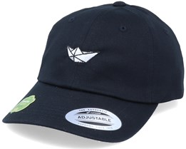 Organic Tiny Paper Boat Black Dad Cap - Iconic