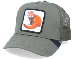 Red Panda Patch Olive Trucker - Iconic