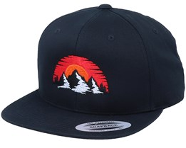 Organic Sunset Mountain Black Snapback - Wild Spirit