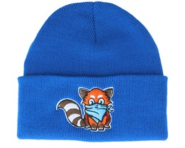 Kids Hatsie The Red Panda Blue Cuff - Kiddo Cap
