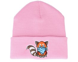 Kids Hatsie The Red Panda Pink Beanie - Kiddo Cap