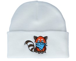 Kids Hatsie The Red Panda White Cuff - Kiddo Cap
