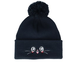 Kids Happy Eyes Navy Pom - Kiddo Cap