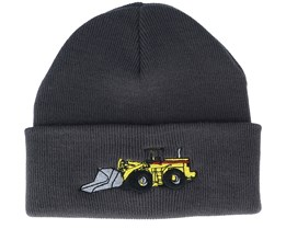 Kids Wheel Loader Graphite Grey Cuff - Kiddo Cap