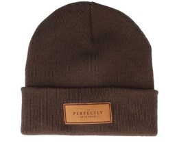 Perfectly Splendid Chocolate Brown Beanie - Scenes