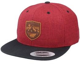 Starry Mountain Patch Melange Red/Black Snapback - Wild Spirit