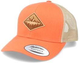 Fir Mountain Patch Orange/Khaki Trucker - Wild Spirit