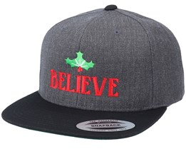 Believe Holly Leaves Charcoal/Black Snapback - Iconic
