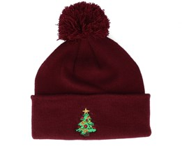 Kids Christmas Tree Burgundy Pom - Iconic