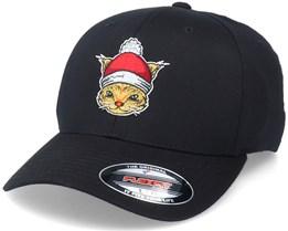Christmas Santas Cat Black Flexfit - Iconic