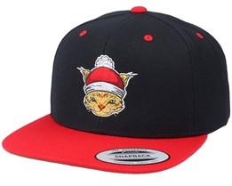 Christmas Santas Cat Black/Red Snapback - Iconic