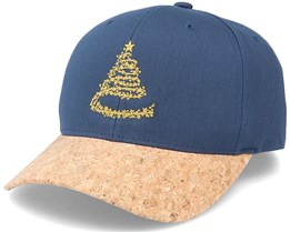 Christmas Tree Stars Navy/Cork Adjustable - Iconic