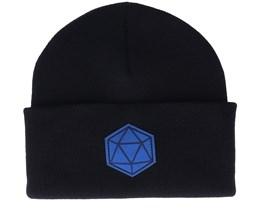 D20 Blue/Black Beanie - Gamerz