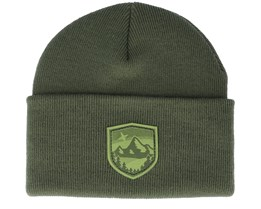 Starry Mountain Patch Olive/Green Beanie - Wild Spirit