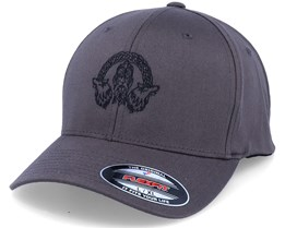 Odin Wolves Logo Dark Grey Flexfit - Vikings