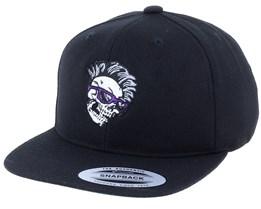 Kids Skull Shade Mohawk Black Snapback - Kiddo Cap