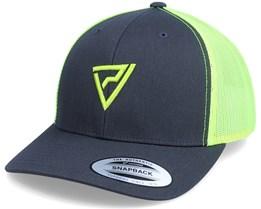 Logo 3D Classic 2-Tone Charcoal/Neon Trucker - Padelville