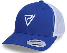 Logo 3D Classic 2-Tone Blue/White Trucker - Padelville