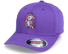 Kids Unicorn Dab Purple Flexfit - Unicorns