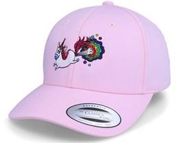 Rainbow Farting Unicorn Curved Pink Adjustable - Unicorns