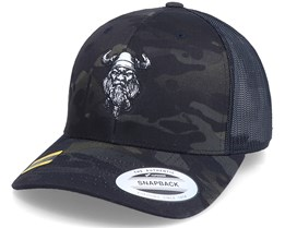 Bearded Viking Multicam Black Camo Trucker - Vikings
