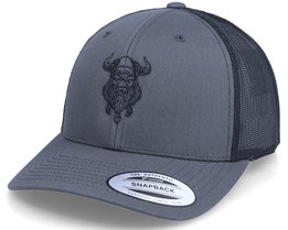 Bearded Viking 2-Tone Charcoal/Black Trucker - Vikings