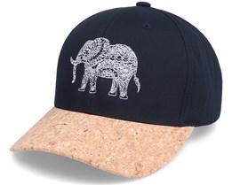 Elephant Mandala Black/Cork Adjustable - Iconic