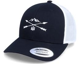 Nature Arrow Cross 2 Tone Black/White Trucker - Wild Spirit