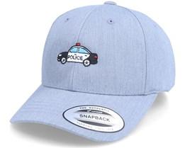 Kids Police Car Heather Grey Adjustable - Kiddo Cap
